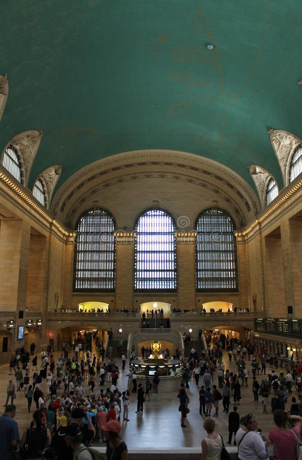 Grand Central Terminal, New York. This beautiful building was inaugurated in 1913 and is still the world's largest train station royalty free stock photography