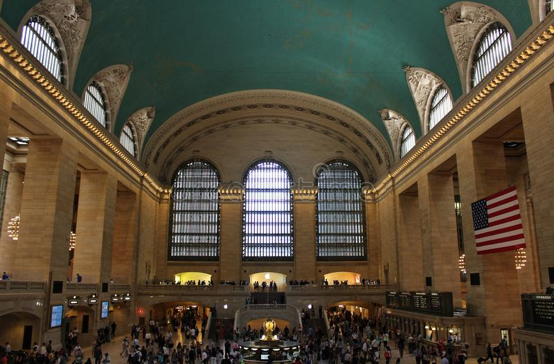 Grand Central Terminal, New York. This beautiful building was inaugurated in 1913 and is still the world's largest train station stock image