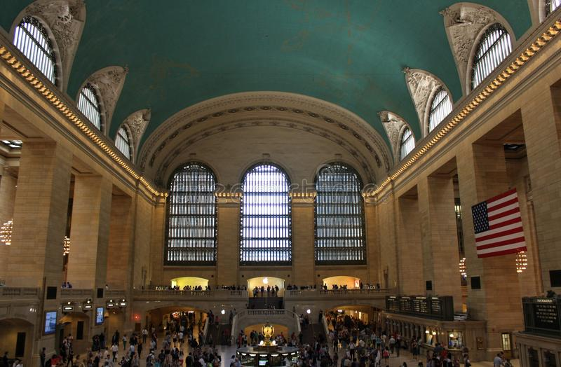 Grand Central Terminal, New York. This beautiful building was inaugurated in 1913 and is still the world's largest train station stock photography