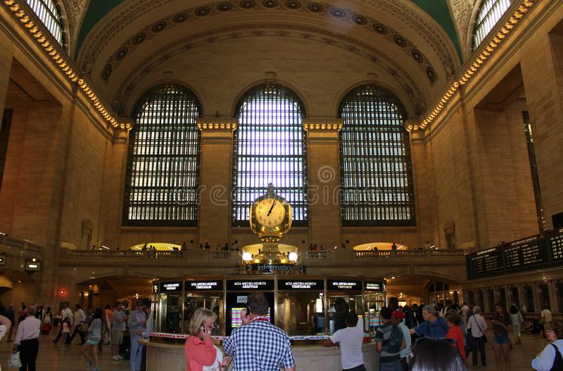 Grand Central Terminal, New York. This beautiful building was inaugurated in 1913 and is still the world's largest train station royalty free stock photos