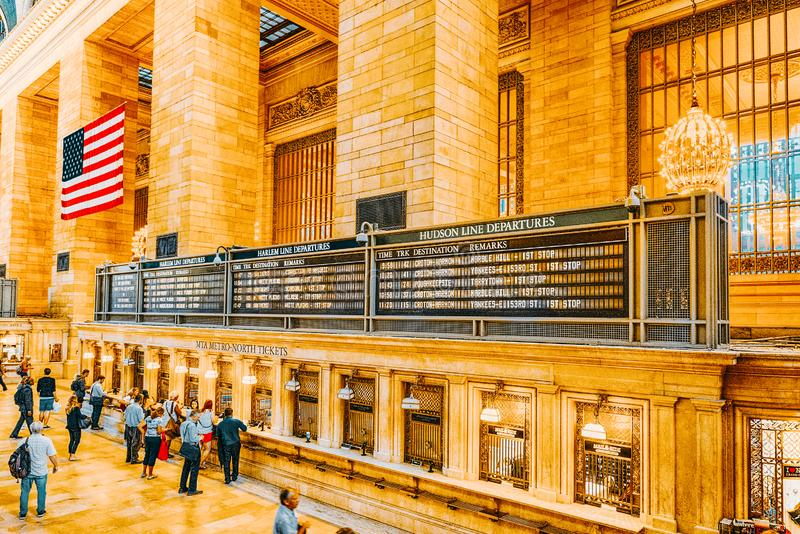 Grand Central Terminal- railroad terminal  in New York City, United States. New York, USA- September 05, 2017 :  Grand Central Terminal- railroad terminal at stock images