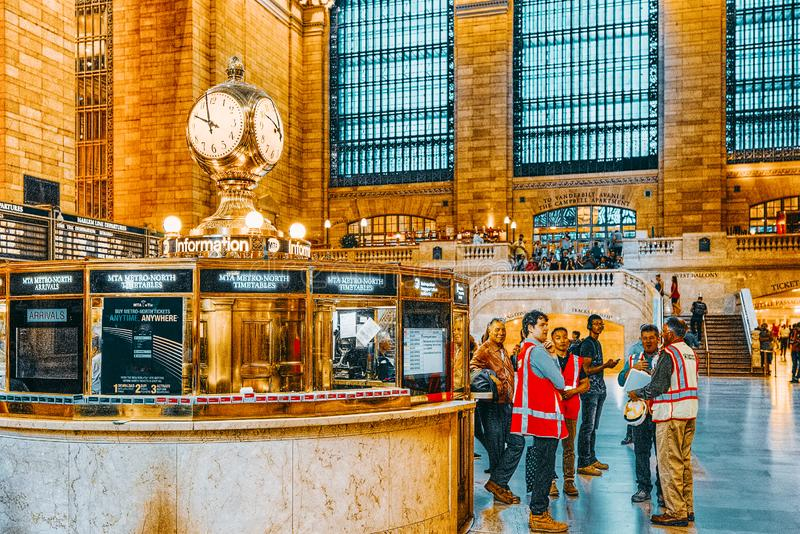 Grand Central Terminal- railroad terminal  in New York City, United States. New York, USA- September 05, 2017 :  Grand Central Terminal- railroad terminal at stock photo