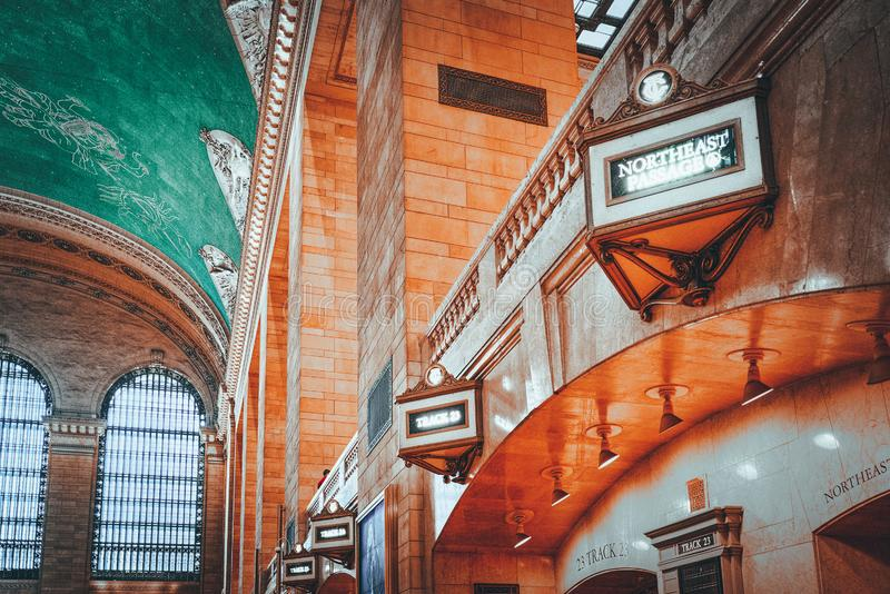 Grand Central Terminal- railroad terminal  in New York City, United States. New York, USA- September 05, 2017 :  Grand Central Terminal- railroad terminal at stock photos