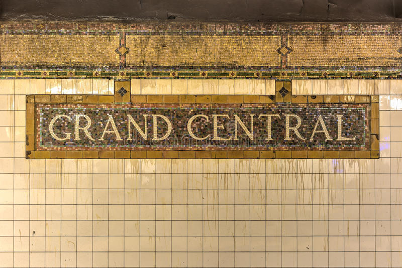 Grand Central -U-Bahnstation - New York City lizenzfreie stockbilder