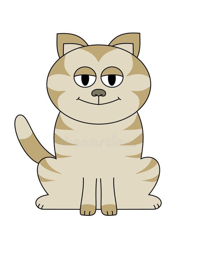 Grand chat observé illustration libre de droits
