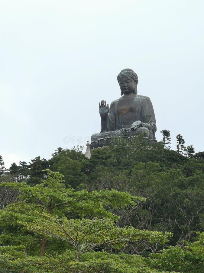 Grand cinglement de ngong de moutain de Bouddha Hong Kong photos libres de droits
