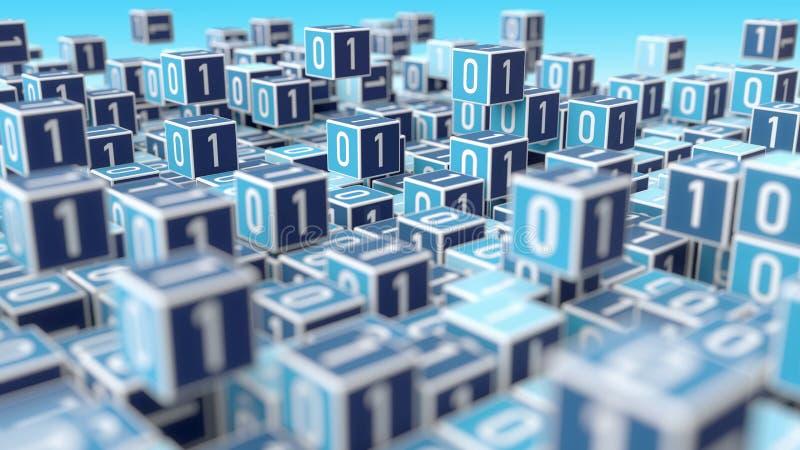 Grand concept de gestion des données d'Internet illustration stock