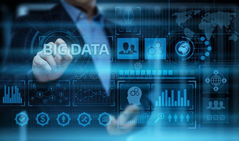 Grand concept de renseignements commerciaux de technologie de données Internet de données photographie stock libre de droits