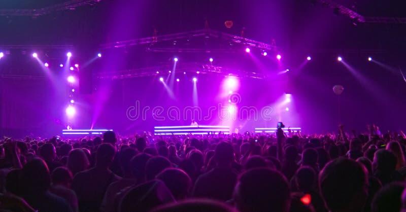 Grand concert d'étape photo stock