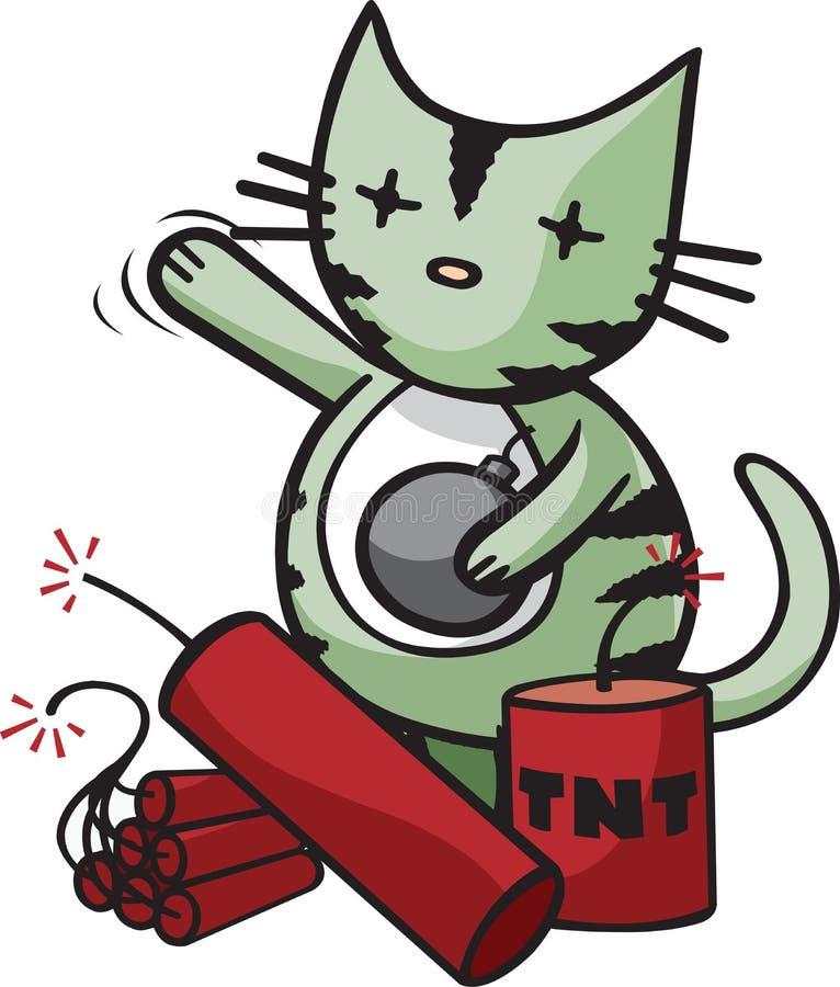 Grand coup Kitty illustration de vecteur