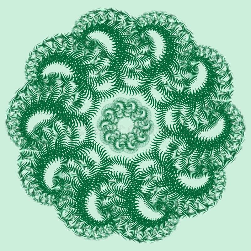 Grand coup vert Quatre types de chiffons pour la décoration à la maison illustration libre de droits