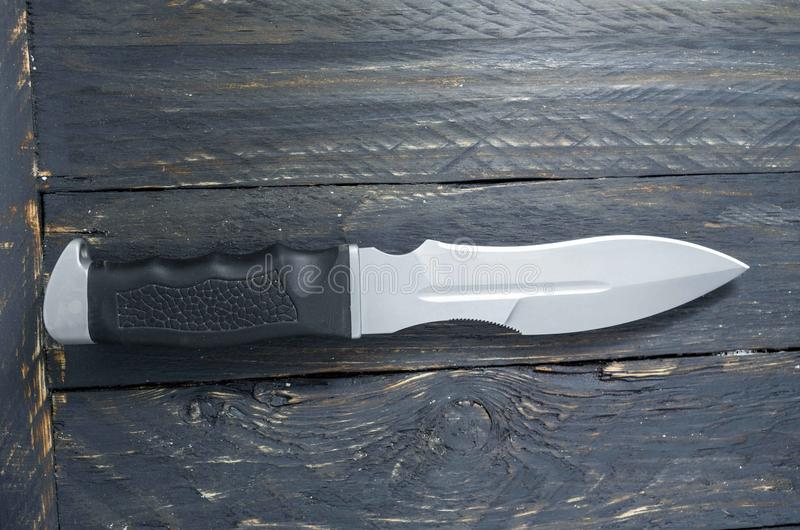 Grand couteau pour la tâche de militaires Vue supérieure photo libre de droits