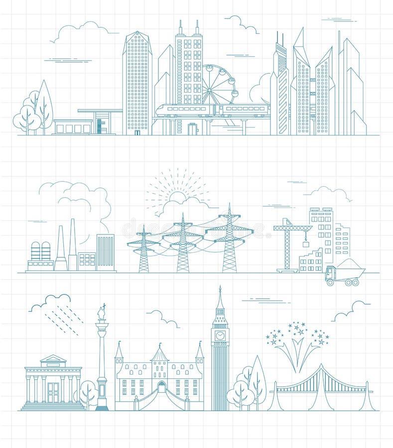 Grand créateur de carte de ville Version d'ensemble Constructeur de Chambre Hous illustration libre de droits