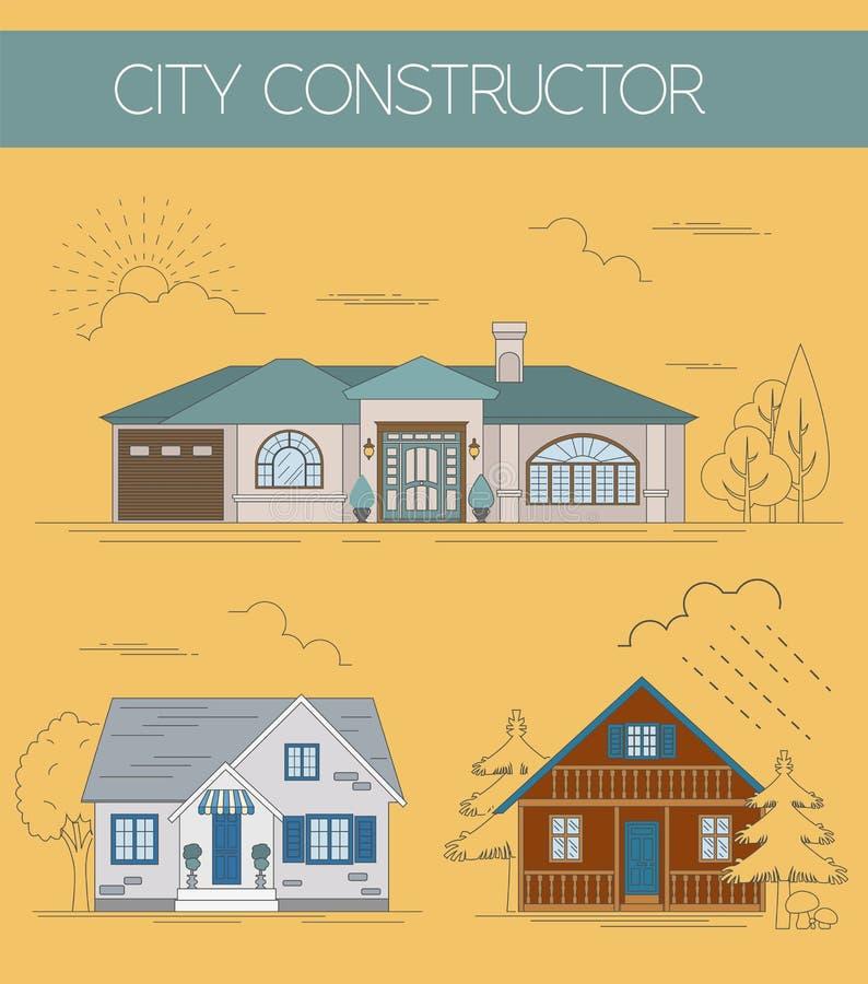 Grand créateur de carte de ville Version de couleur illustration libre de droits