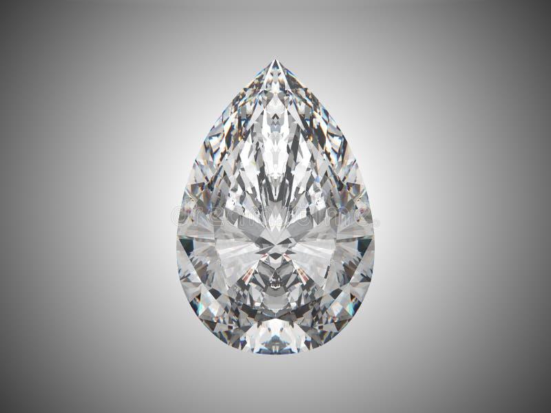 Grand diamant de coupure de poire illustration stock