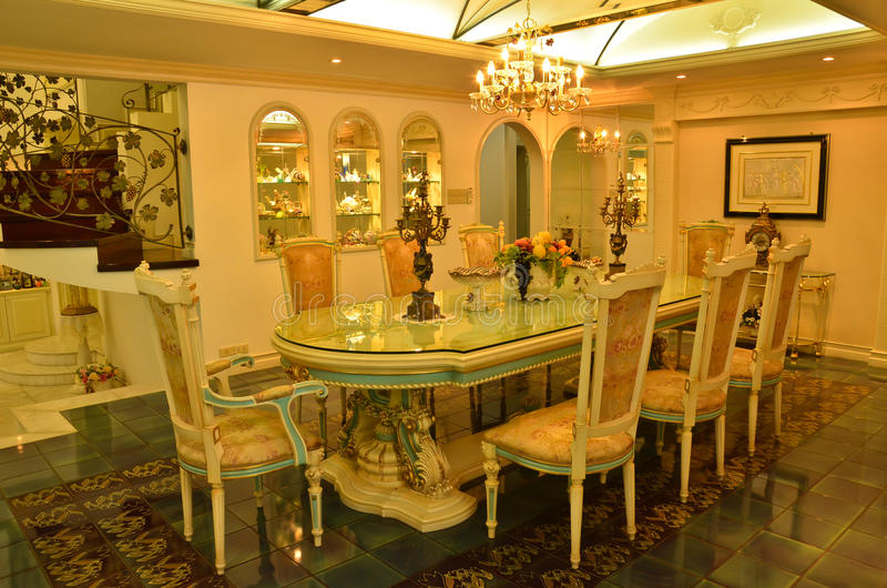 Download Grand Dinning Room stock image. Image of guest, glass - 24402351