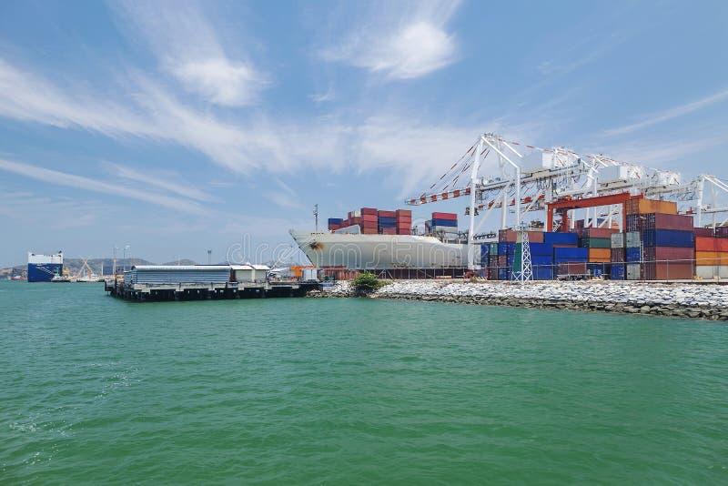 Grand dock d'expédition internationale photographie stock libre de droits