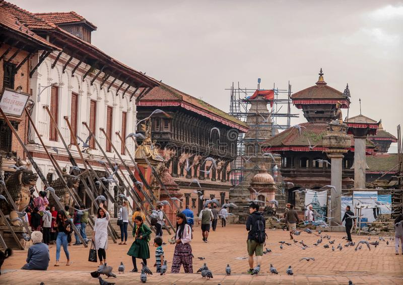 Grand dos de Bhaktapur Durbar photographie stock libre de droits