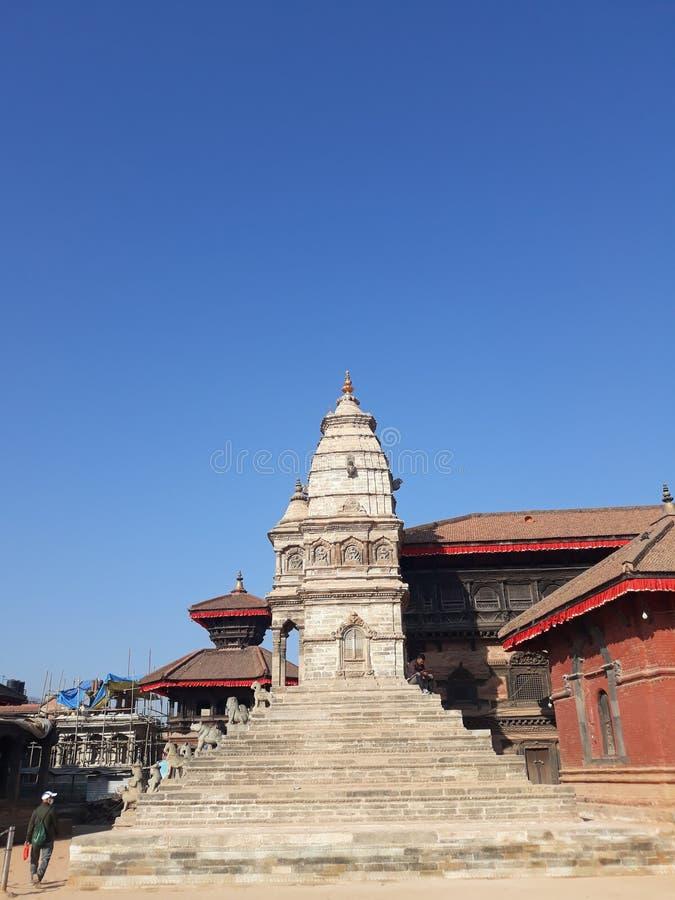 Grand dos de Bhaktapur Durbar photo stock
