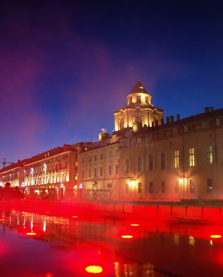 Grand dos de château à Turin photographie stock libre de droits