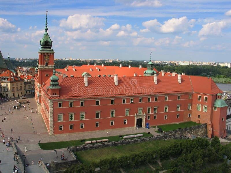 Grand dos de château à Varsovie, Pologne images stock