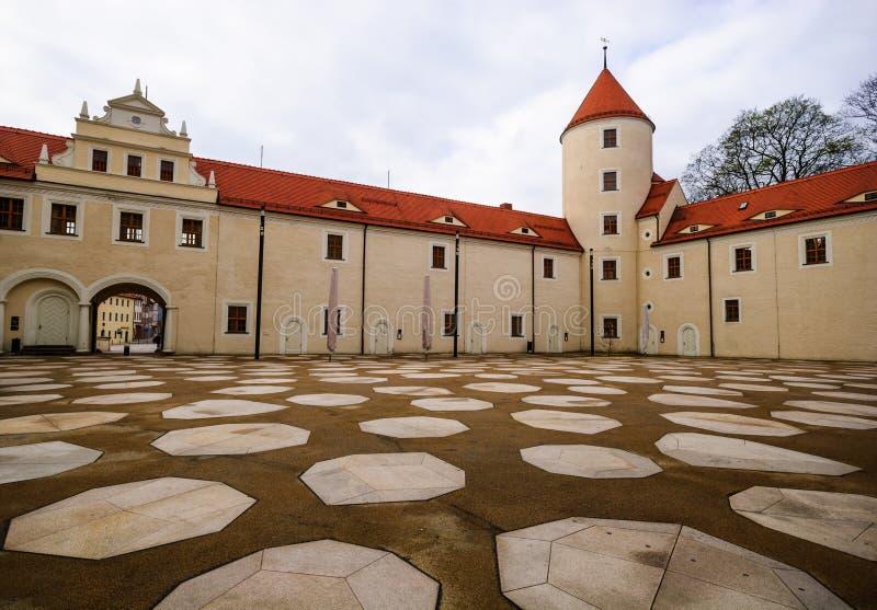 Grand dos de château de Freiberg photos stock