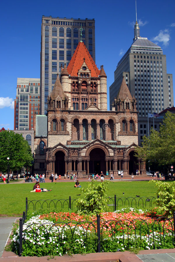 Grand dos de Copley, Boston images libres de droits