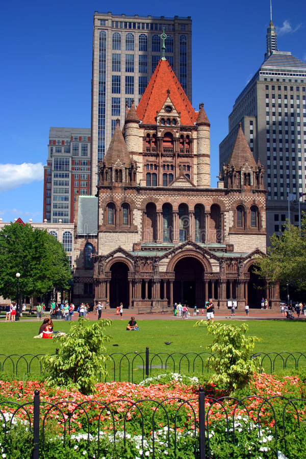 Grand dos de Copley, Boston images stock