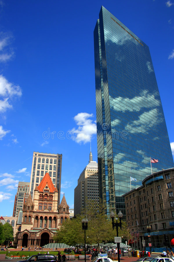 Grand dos de Copley, Boston photo stock