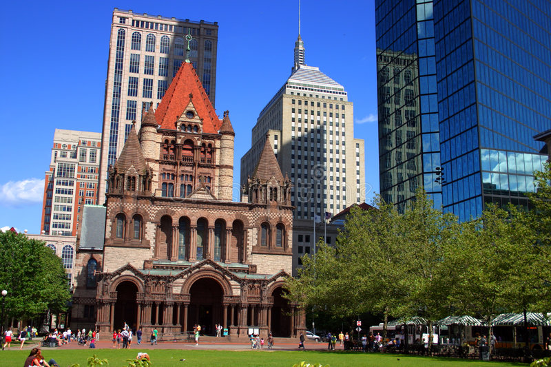 Grand dos de Copley, Boston photographie stock libre de droits