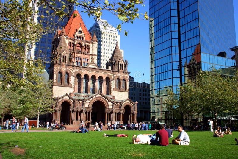 Grand dos de Copley, Boston photos libres de droits
