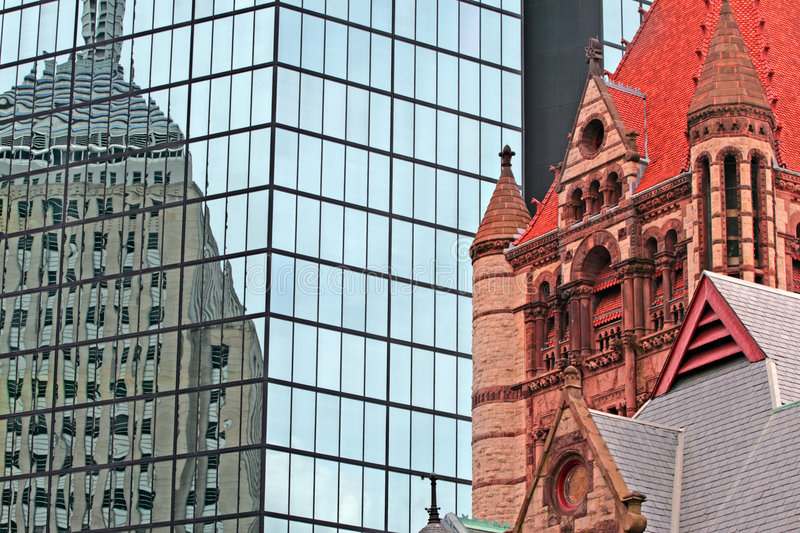 grand dos de copley de Boston photo libre de droits