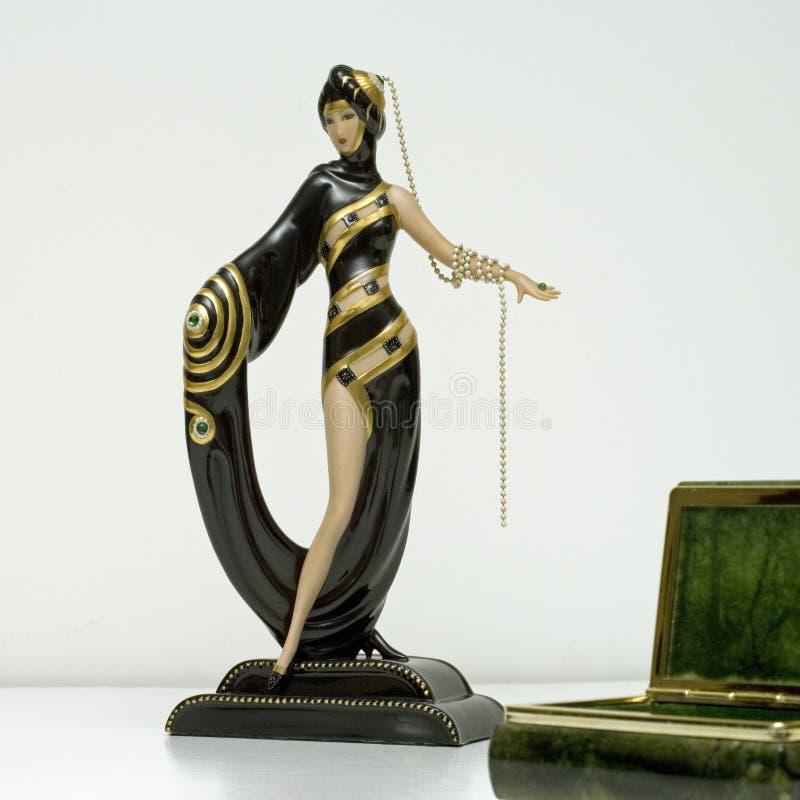 Grand dos de deco de figurine d'Erte image libre de droits