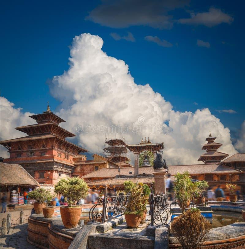 Grand dos de Durbar dans Bhaktapur photographie stock