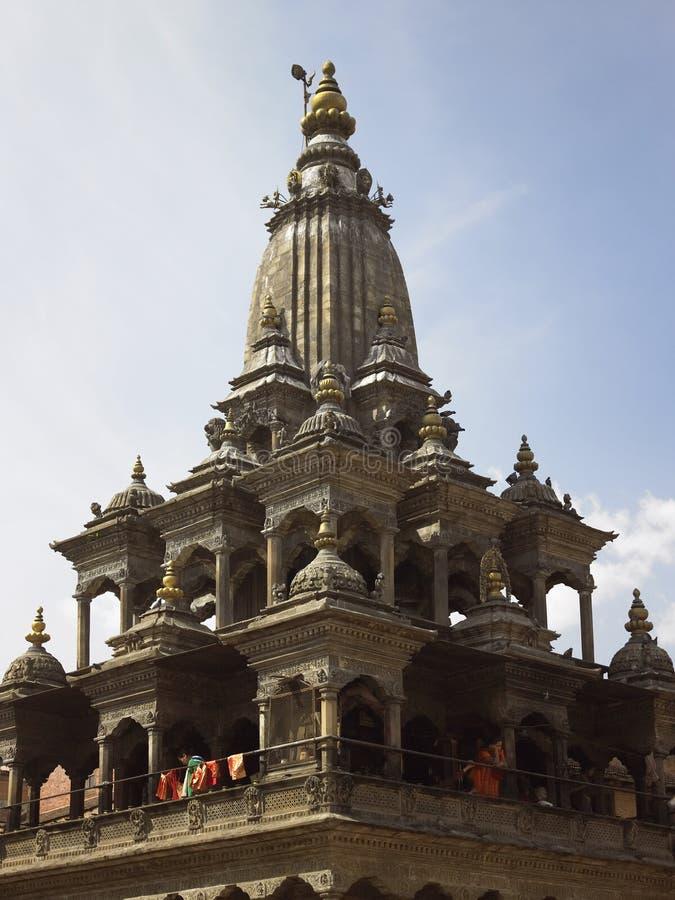 Grand dos de Durbar - Patan - Katmandou - Népal image libre de droits