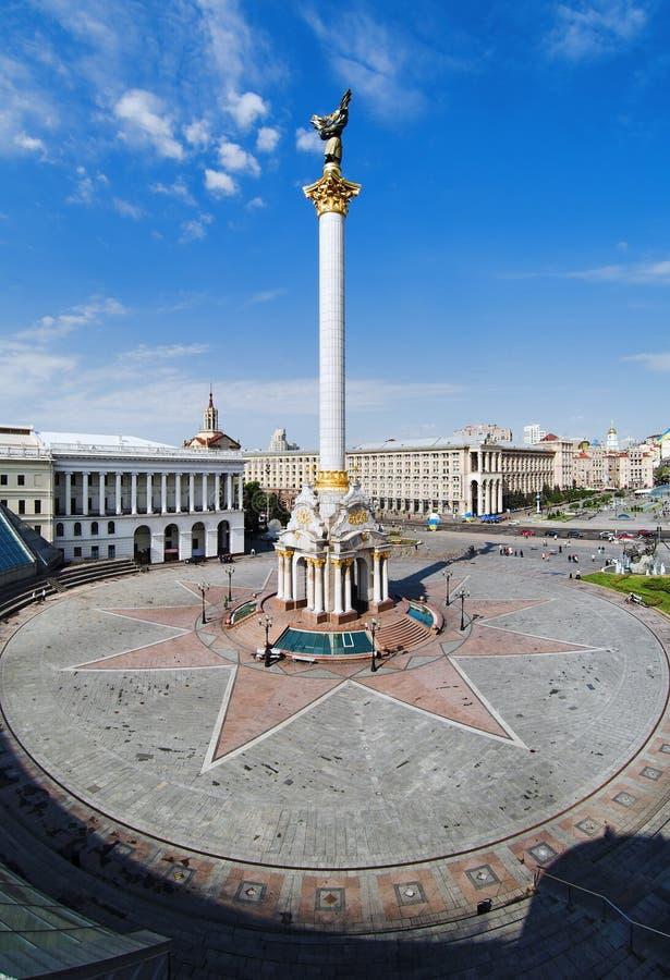 Grand dos de l'indépendance à Kiev image stock