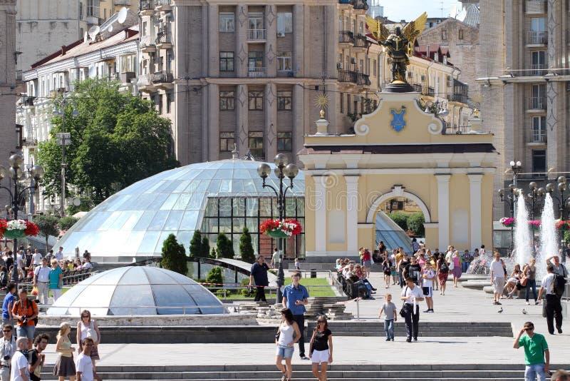 Grand dos de l'indépendance à Kiev photos stock