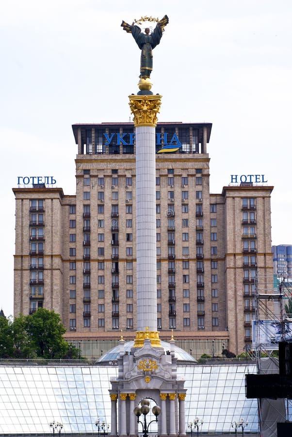 Grand dos de l'indépendance, Kiev, Ukraine photographie stock