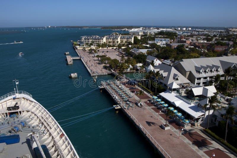 Grand dos de Mallory à Key West, la Floride photo stock
