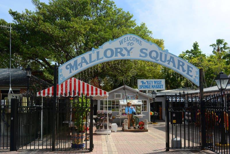 Grand dos de Mallory, Key West, la Floride images libres de droits
