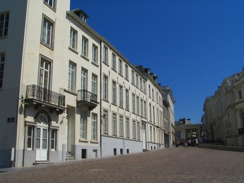 Grand dos de musée de Bruxelles. image libre de droits