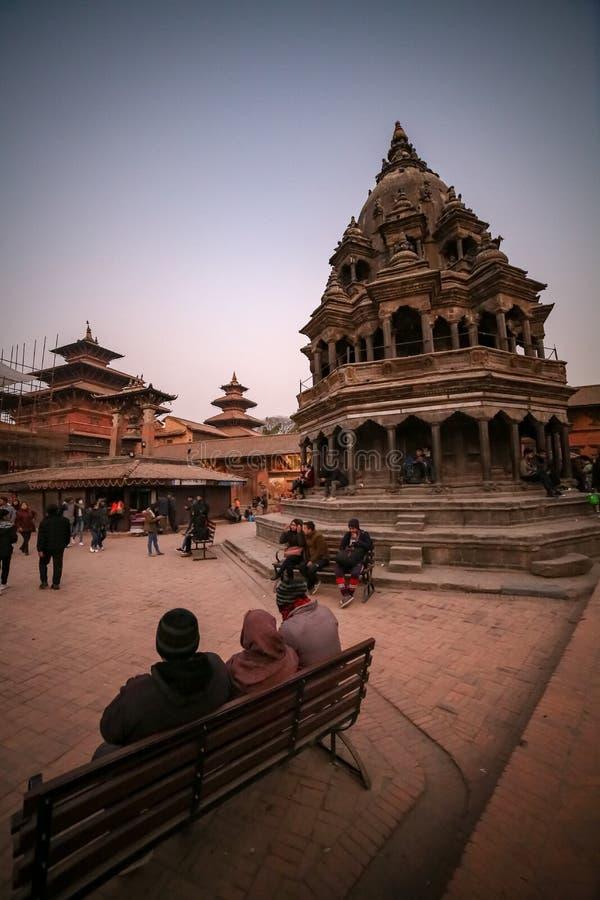 Grand dos de Patan Durbar, Népal photographie stock