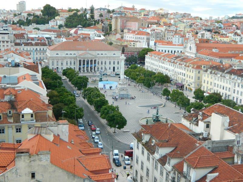 Grand dos de Rossio, Lisbonne photo stock