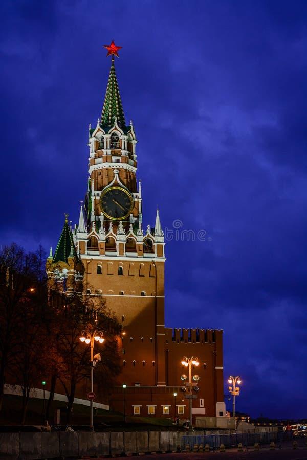 Grand dos de Spasskaya Tower photos stock