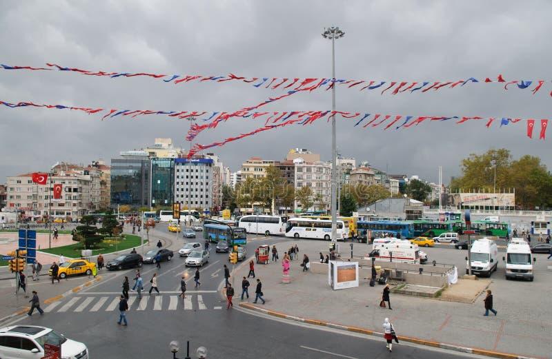 Grand dos de Taksim, Istanbul images libres de droits