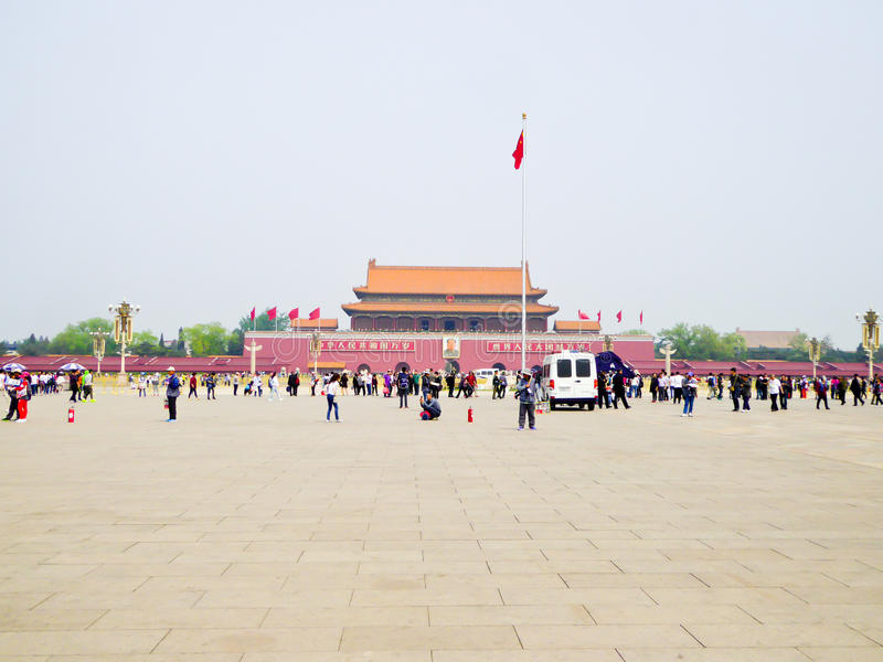 Grand dos de Tian'anmen photos libres de droits