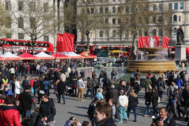 Grand dos de Trafalgar, Londres photographie stock libre de droits