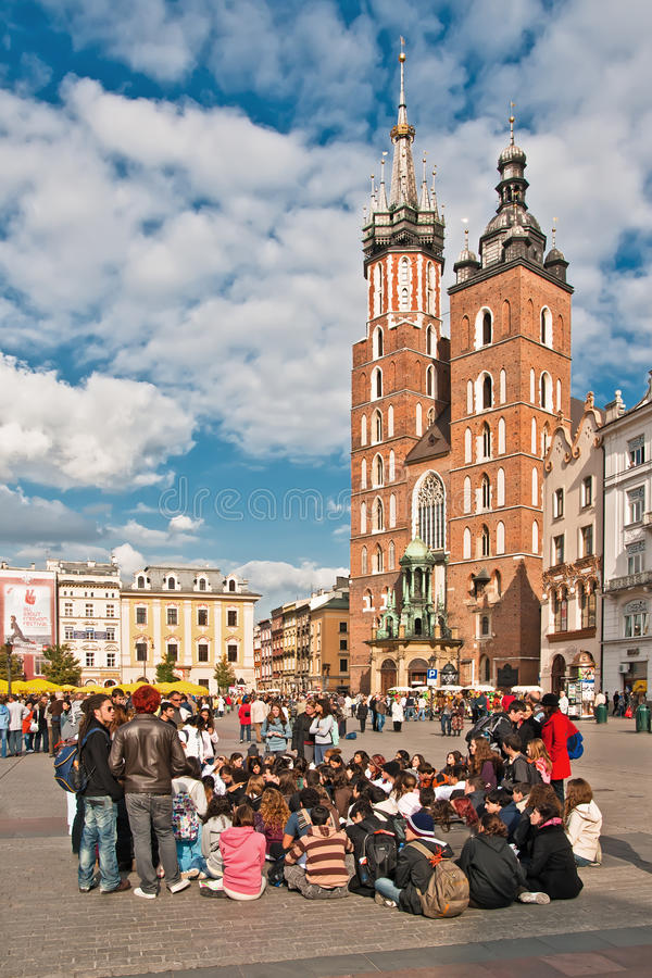 Grand dos de ville principal à Cracovie, Pologne photo libre de droits