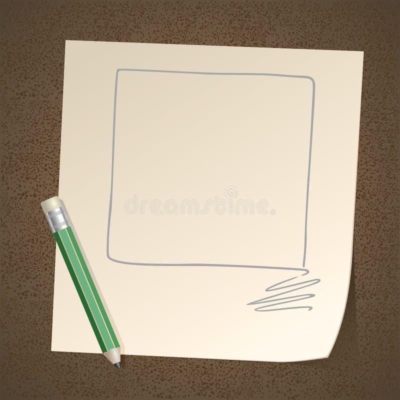 Grand Dos De Vue De Dessin Au Crayon Sur Le Papier Photos stock
