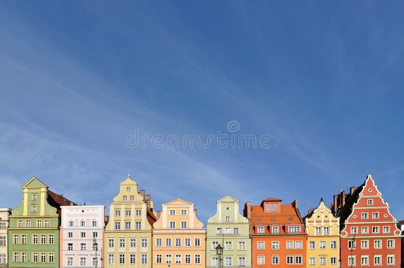 Grand dos du marché, Wroclaw, Pologne image libre de droits
